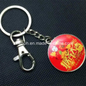 Custom Round Shape Printing Metal Keychain pictures & photos