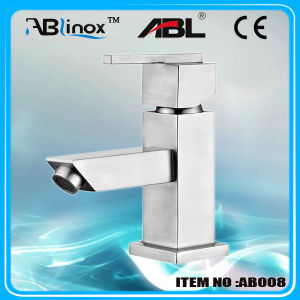 Stainless Steel Square Basin Faucet (AB008)
