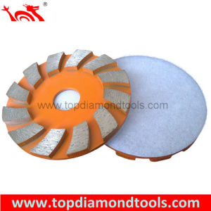 Concrete Floor Grinding Disc with Vecro Backed pictures & photos