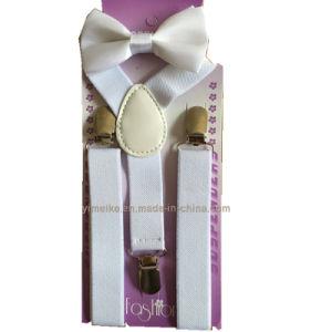 Newest Multi Colors Adjustable Kids Suspender Brace Bowties Set pictures & photos