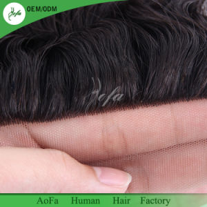 100% Human Hair All Hand-Tied Brazilian Hair Swiss Lace Closure pictures & photos