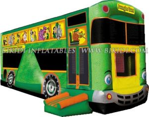 Inflatable Bouncer Bus Jungle Theme (B3023) pictures & photos