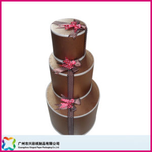 Round Gift Box Set with Ribbon Bow Ties (XC-1-062) pictures & photos
