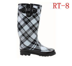 Women Rubber Rain Boot (RT-8) pictures & photos