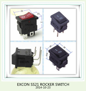 Excon Ss21 Rocker Switch with Lamp Power Rocker Switch pictures & photos
