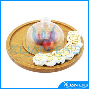 Round Bamboo Serving Tray Jh-Q002 pictures & photos