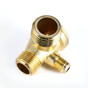 3 Port Brass Male Threaded Check Valve Connector Tool for Air Compressor pictures & photos