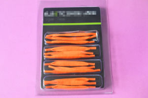 Neon Color Elastic Flat Shoelace pictures & photos