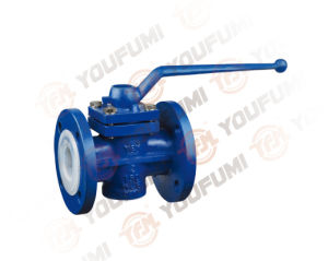 PFA Lined Plug Valve Flange Type for Corrosion Medium pictures & photos