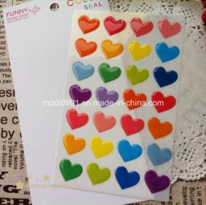 Heart Resign Dome Logo Epoxy Label Sticker, Epoxy Sticker Label, Soft Epoxy Resin Dome Label pictures & photos