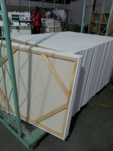 """Professional30*36"""" 3.7*3.8cm Thickness 280canvas Pinewood Stretched Canvas (back stapled) pictures & photos"""