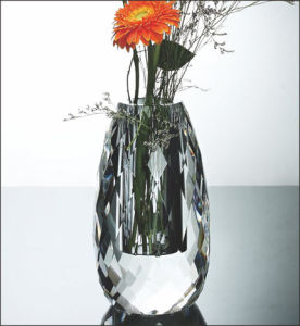 Crystal Glass Decoration Flower Vase pictures & photos