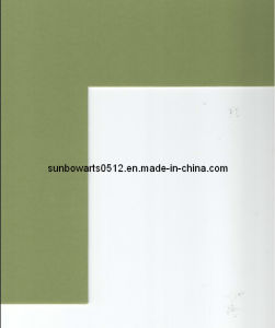 Mat Board (KS0881) Tansy Green Frame Mat Acid Free Cream Core, Whte Core, Black Core Mount