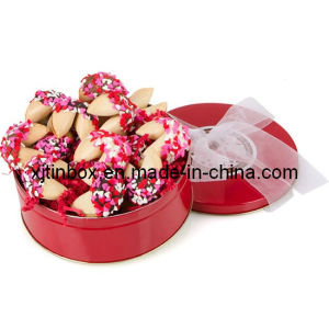Beautiful and Lovely Promotion Biscuit Tin Box, Metal Biscuit Can, Biscuit Box, Biscuit Metal Box, Cookie Tin Box (XJ-033Y)