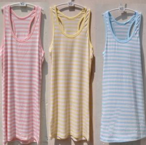 Custom Bulk Stock Cotton Tank Top Lady Striped Tops pictures & photos