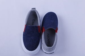 Vulcanized Shoes Rubber Outsole for Boys Bz1607 pictures & photos