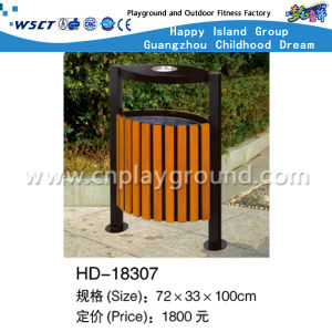 Outdoor Environmental Wooden Dust Bin with Ashtray (HD-18307) pictures & photos