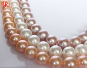 11-12mm Perfect Round Freshwater Pearl Strand Necklace, Aaaa Grade (ES242) pictures & photos