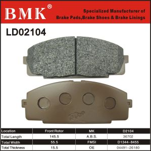 High Quality Brake Pad (D2104) for Toyota pictures & photos