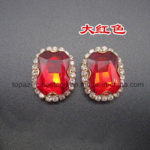 Sew on Rhinestone Claw Setting Crystals for Wedding Dress (SW-Rectangle 10*14) pictures & photos