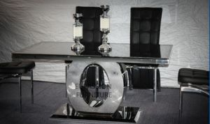 Modern Designed Stainless Steel Marble Dining Table Set