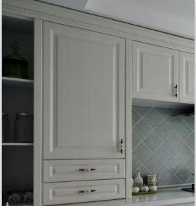 New Design China White Solid Wood Kitchen Cabinet #2012-45 pictures & photos
