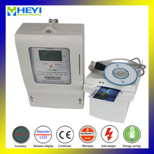 IC Card Prepaid Meter Three Phase Four Wire LCD Panel pictures & photos