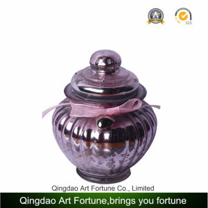 Shaped Mercury Glass Jar Container with Lid for Home Decoration Supplier pictures & photos