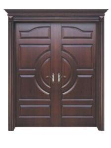 Entrance Oak Solid Wooden Door for Villa/Wood Dool/ Solid Wooden Door pictures & photos
