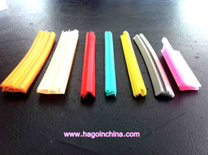 Atoxic Eco Friendly Silicone Rubber Extrusion Profile pictures & photos