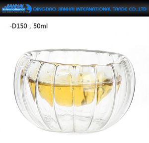 Clear Handmade Double Wall Glass Mini Kungfu Tea Drink Cups pictures & photos