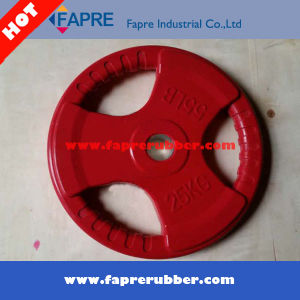 Tri Grip Rubber Coated Olympic Weight Plate pictures & photos