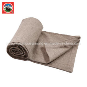 Camel Wool Blanket/Yak Wool Knitwear/ Cashmere Fabric/Wool Textile/Fabric/Bedding pictures & photos