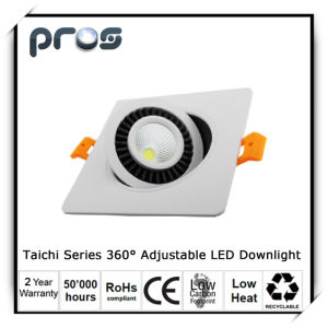 360degree Adjustable LED Down Light for Ceiling Downlight 10W pictures & photos