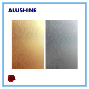 Classical 4mm Brushed Palm Copper Aluminum Composite Panel ACP pictures & photos