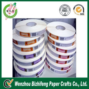 Roll product description label sticker