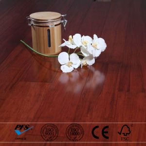 Red Color Stained Click Lock Strand Woven Bamboo Flooring
