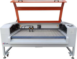 Shoes Garment Dual Head Laser Cutting Engraving Machine with Auto Laser Control (WZ16080DI-AF)