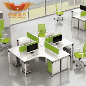Modern Straight 4 Seats Office Furniture Partition Workstation (H50-0206)