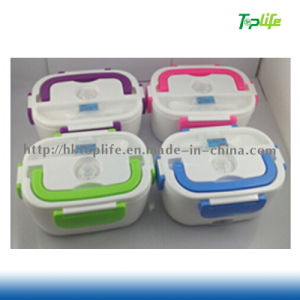 Thermostatic Heated Lunch Box Electric Heating Lunch Box Electronic Boxes EU / Us Plug Large Capacity 4 Color Free Shipping