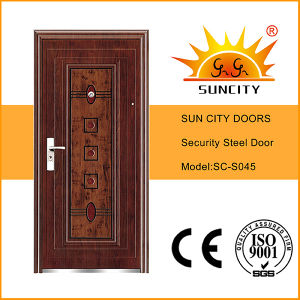 China Steel Door Low Prices Iron Door Stainless Steel Grill Door Design (SC-S045) pictures & photos