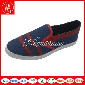 Plain Flat Leisure Women Men Canvas Casual Shoes pictures & photos
