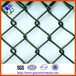 Electro Galvanized Chain Link Fence Diamond Wire Mesh or Rhombic Wire Mesh (CLF007) pictures & photos