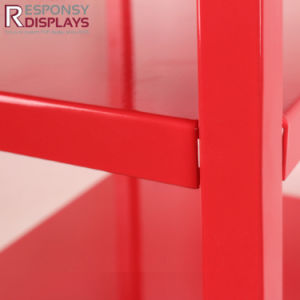 Pop up Red Powder Coated Metal Floor Cylinder Display Rack Sweet Candy Stands pictures & photos
