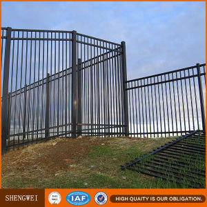 Powder Coated Galvanized Wrought Iron Pipe Fence Railing pictures & photos