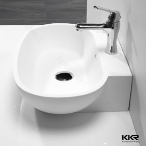 Small Solid Surface Stone Bathroom Wash Hand Basin (B170809) pictures & photos