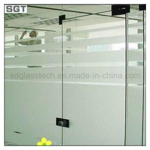 Decoration Low Iron Acid Etched Frosted Office Partition Glass pictures & photos