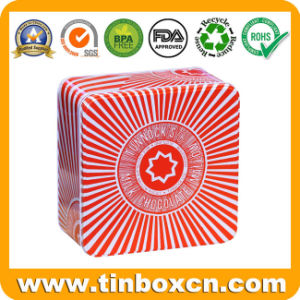 Square Metal Tin Container for Milk Chocolate, Gift Tin Box pictures & photos