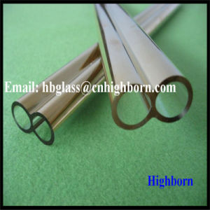 Double Hole Gold Coating Fused Quartz Glass Pipe pictures & photos
