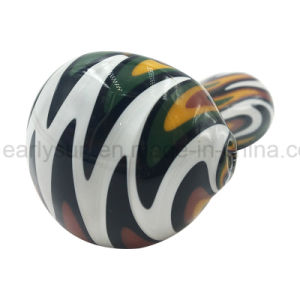 White Switchbacks Bowl Orange Combination of Printing Spoon Hand Pipe (ES-HP-172) pictures & photos